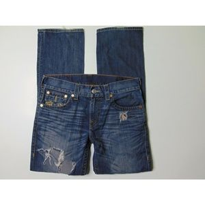 True Religion 32 x 34 Straight Blue Jeans Denim